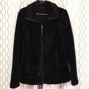 Women's luxe fur jacket.